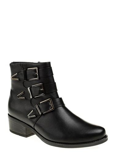 Koton Kısa Topuklu Bot Siyah